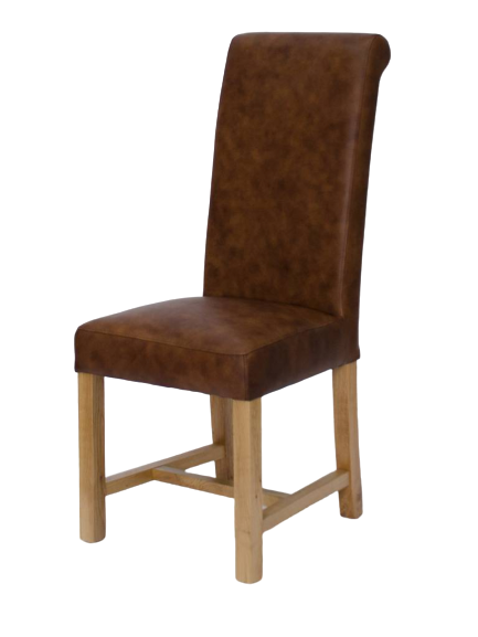 HomestyleGB Henley Mocha Full Leather Dining Chair