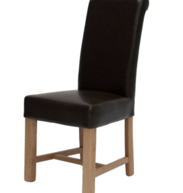Louisa Brown Leather Dining Chair