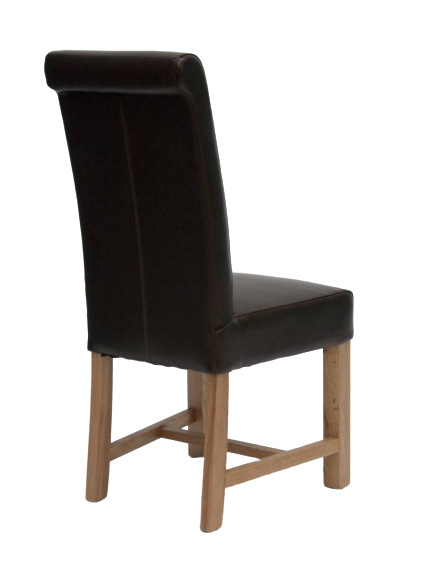 HomestyleGB Louisa Brown Leather Dining Chair