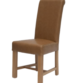 Louisa Tan Leather Dining Chair