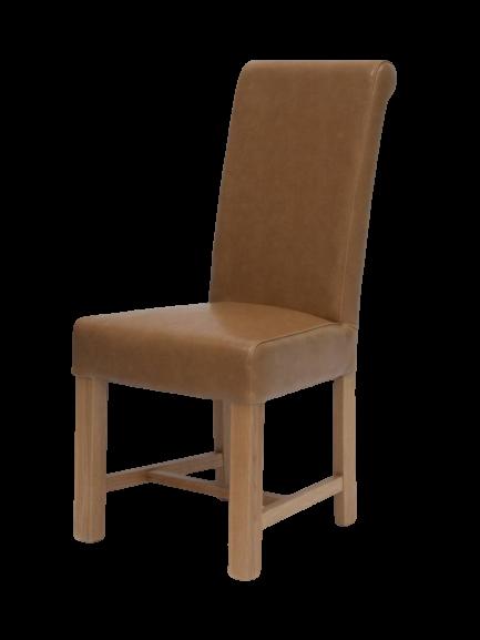 HomestyleGB Louisa Tan Leather Dining Chair