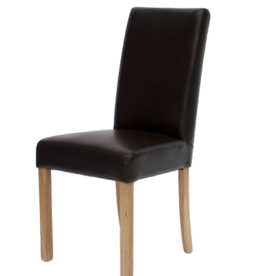 HomestyleGB Marianna Brown Leather Dining Chair