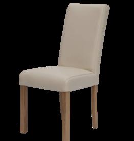 Marianna Cream Leather Dining Chair