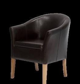 HomestyleGB Opus Brown Leather Tub Chair