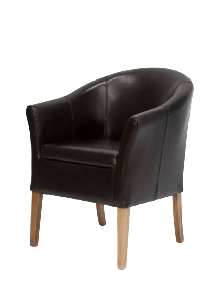 Opus Brown Leather Tub Chair