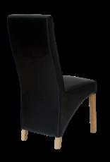 HomestyleGB Wave Noir Leathe Dining Chair