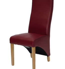 Wave Ruby Leather Dining Chair