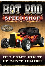 Red Hot Lemon Ford Hot Rod Speed Shop Metal Wall Sign