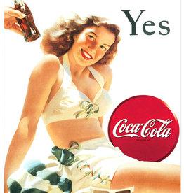 Red Hot Lemon Coke Yes White Bathing Suit - Tin Sign