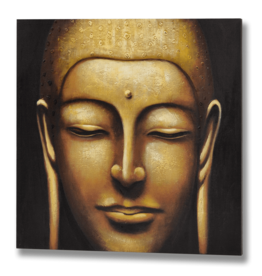 Hill Interiors Hand Painted Large Tara Buddha Canvas