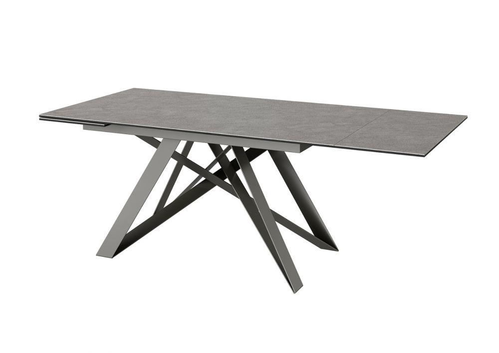 Torelli Visage Ceramic Extending Dining Table Grey