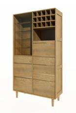 HomestyleGB Scandic Oak Drinks Cabinet