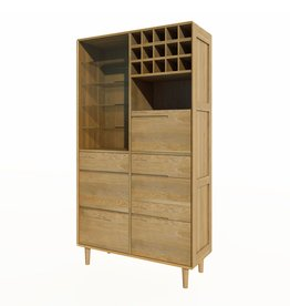 HomestyleGB Scandic Oak Drinks Cabinet
