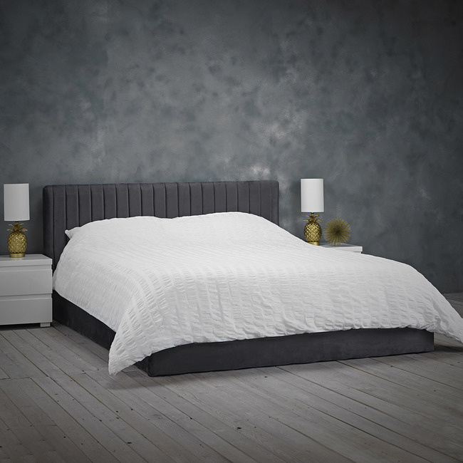 LPD Berlin Ottoman Bed - Silver or Teal Velvet
