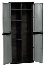 Kingfisher Large Garden Storage Cabinet Dark Grey