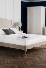 Camille Wood and Fabric Bed