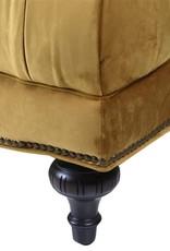 Mustard Velvet Button Back Sofa