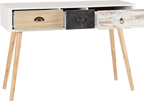 Seconique Nordic 3 Drawer Occasional Table