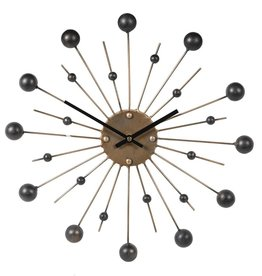 Gold Spike Black Ball Clock