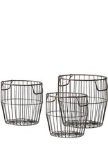 Gallery Leeton Metal Baskets Set of 3