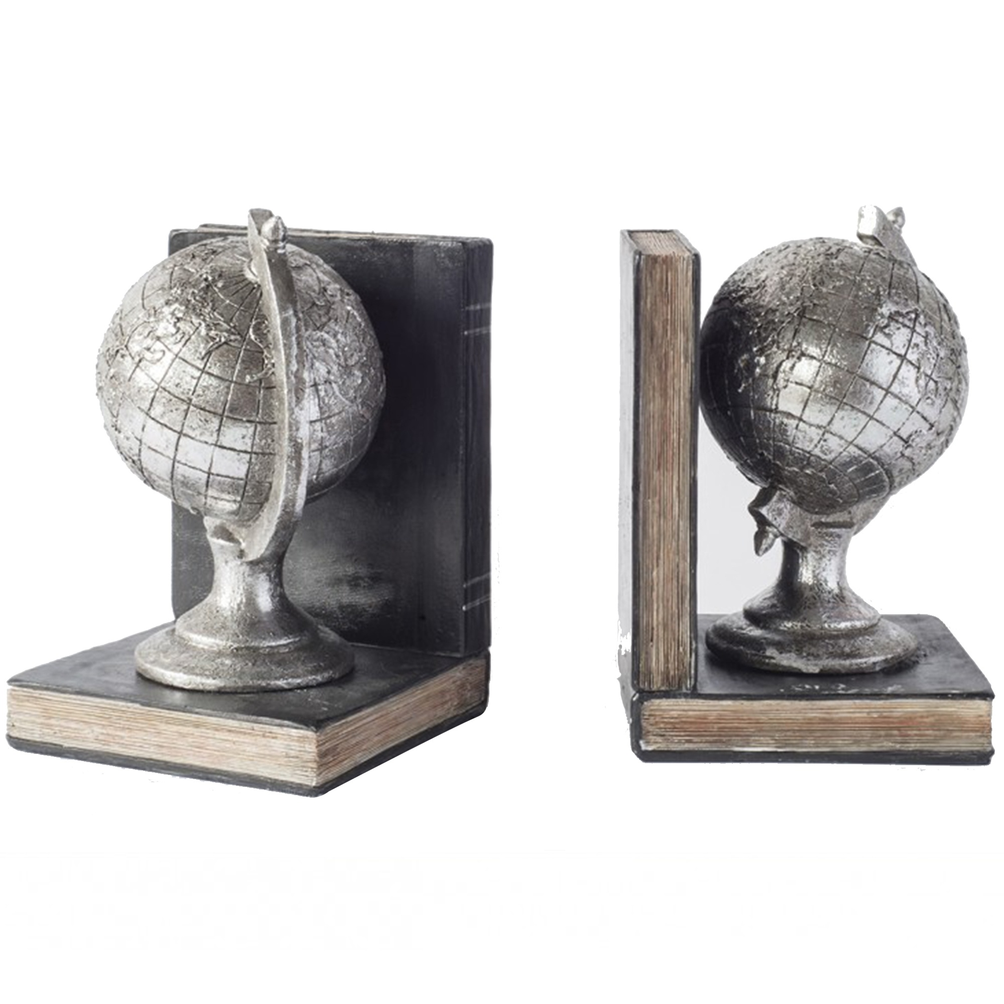 Gallery Atlas Pair of Globes Bookends