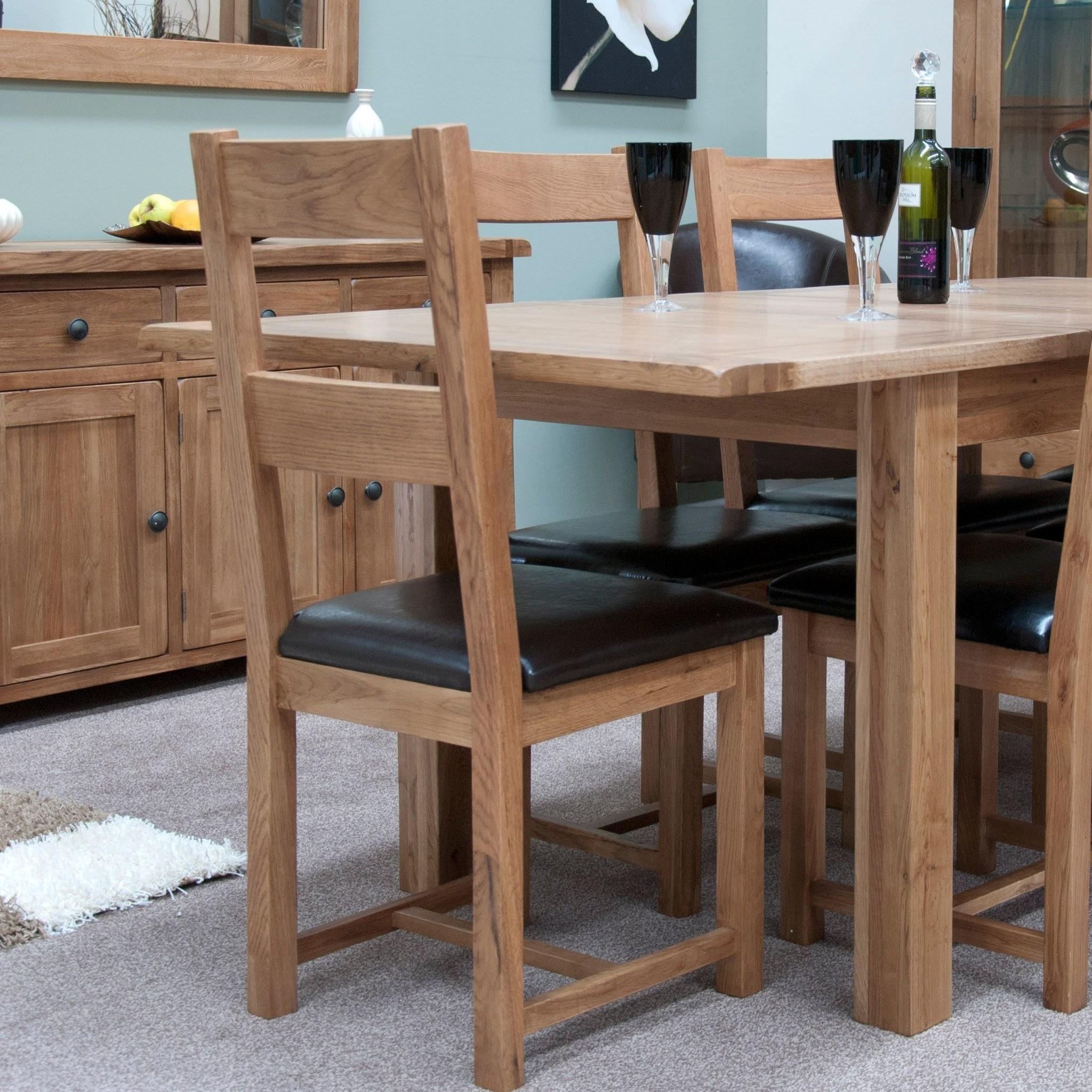 HomestyleGB Rustic Oak Dining Chair