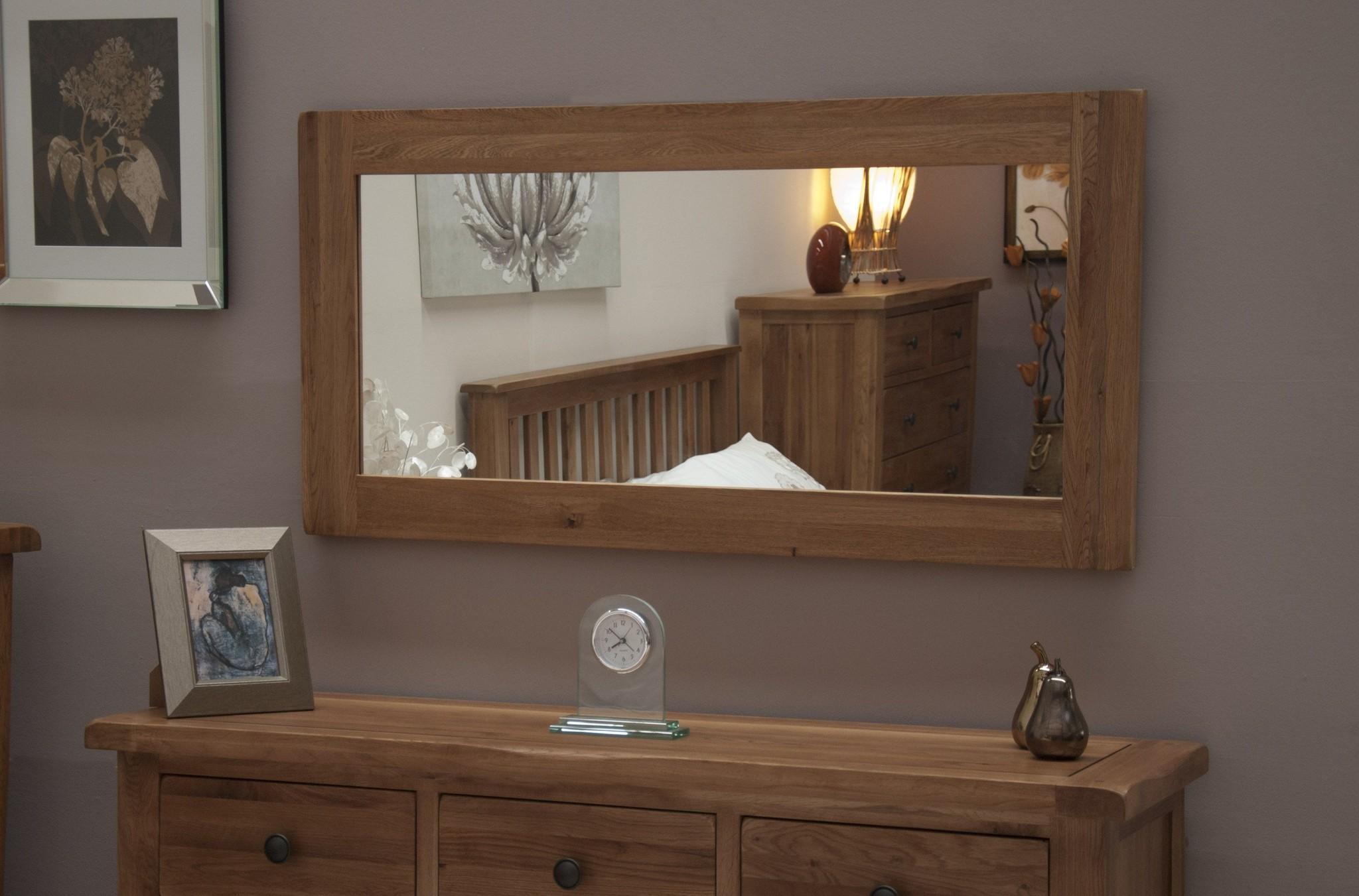 HomestyleGB Rustic Oak Large Mirror