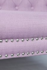 Besp-Oak Lilac 3 Seater Sofa With Studded Detail