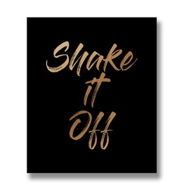 Hill Interiors Shake It Off Gold Foil Plaque