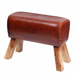 Besp-Oak Leather Pommel Horse Stool