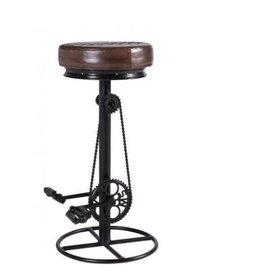 Besp-Oak Iron Bar Bicycle Stool
