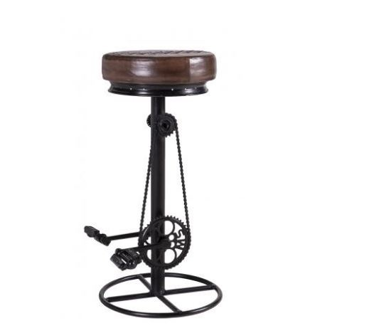 Besp-Oak Adjustable Iron Bar Bicycle Stool
