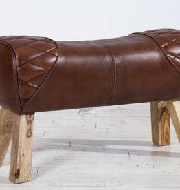 Besp-Oak 2 Seater Pommel Horse Leather Bench