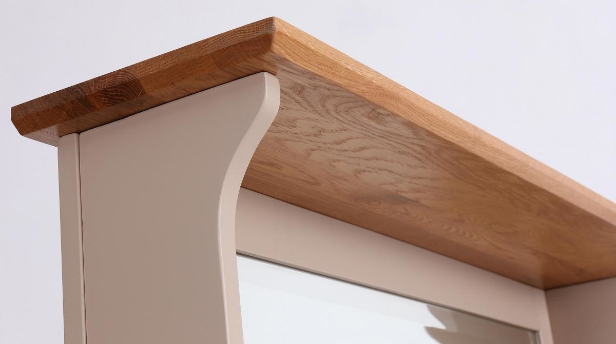 Besp-Oak Vancouver Expressions Hall Tidy Storage Bench With Coat Rack & Mirror
