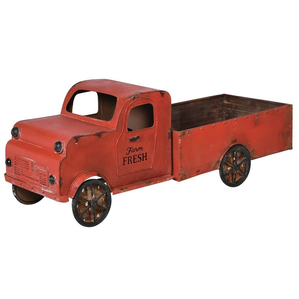 Large Red Display Truck