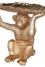 Golden Monkey With Leaf Dish