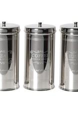 Set of 3 Tea,Coffee & Sugar Set Stainless Steel
