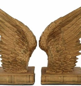 Gold Angel Wings Bookends