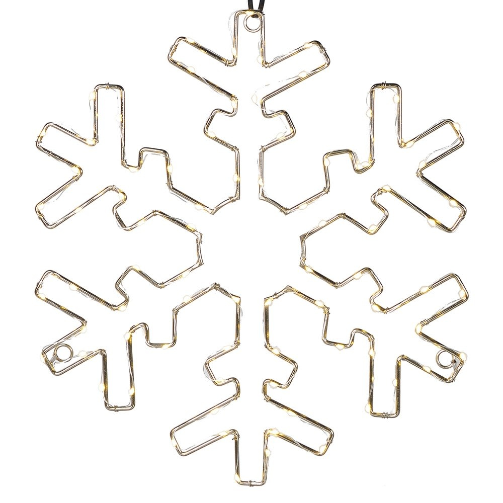 Lit Metal Snowflake Wall Decor