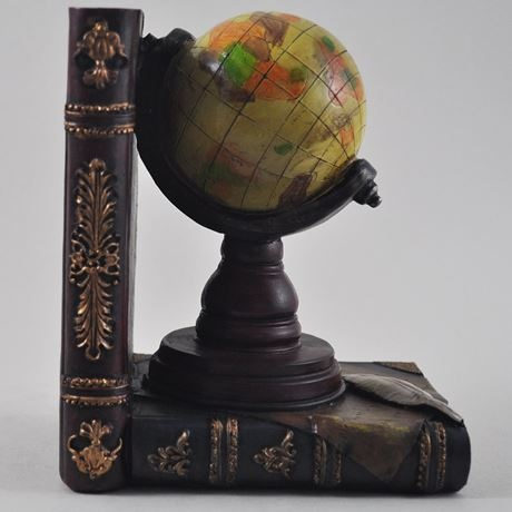 Globe and Telescope Bookends