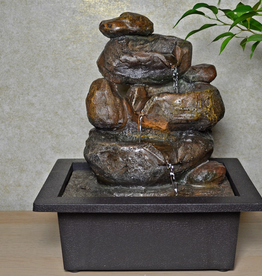 Indoor Water Fountain Stone Look With LED Light
