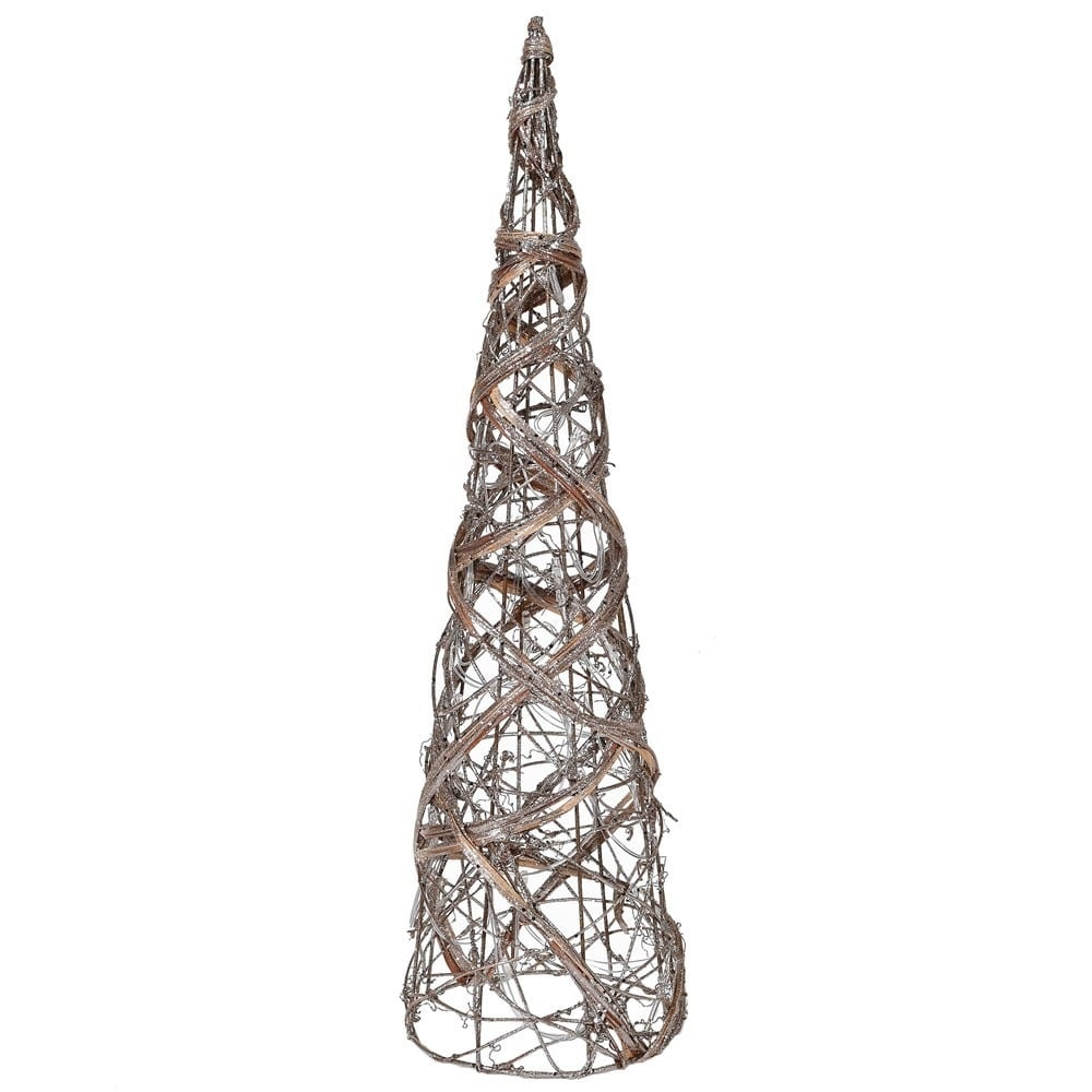Small Rattan Cone Tree With Lights 40 c