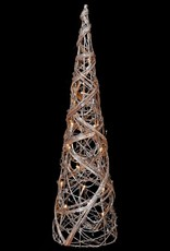 Large Rattan Cone Tree With Lights