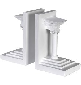 White Roman Column Bookends