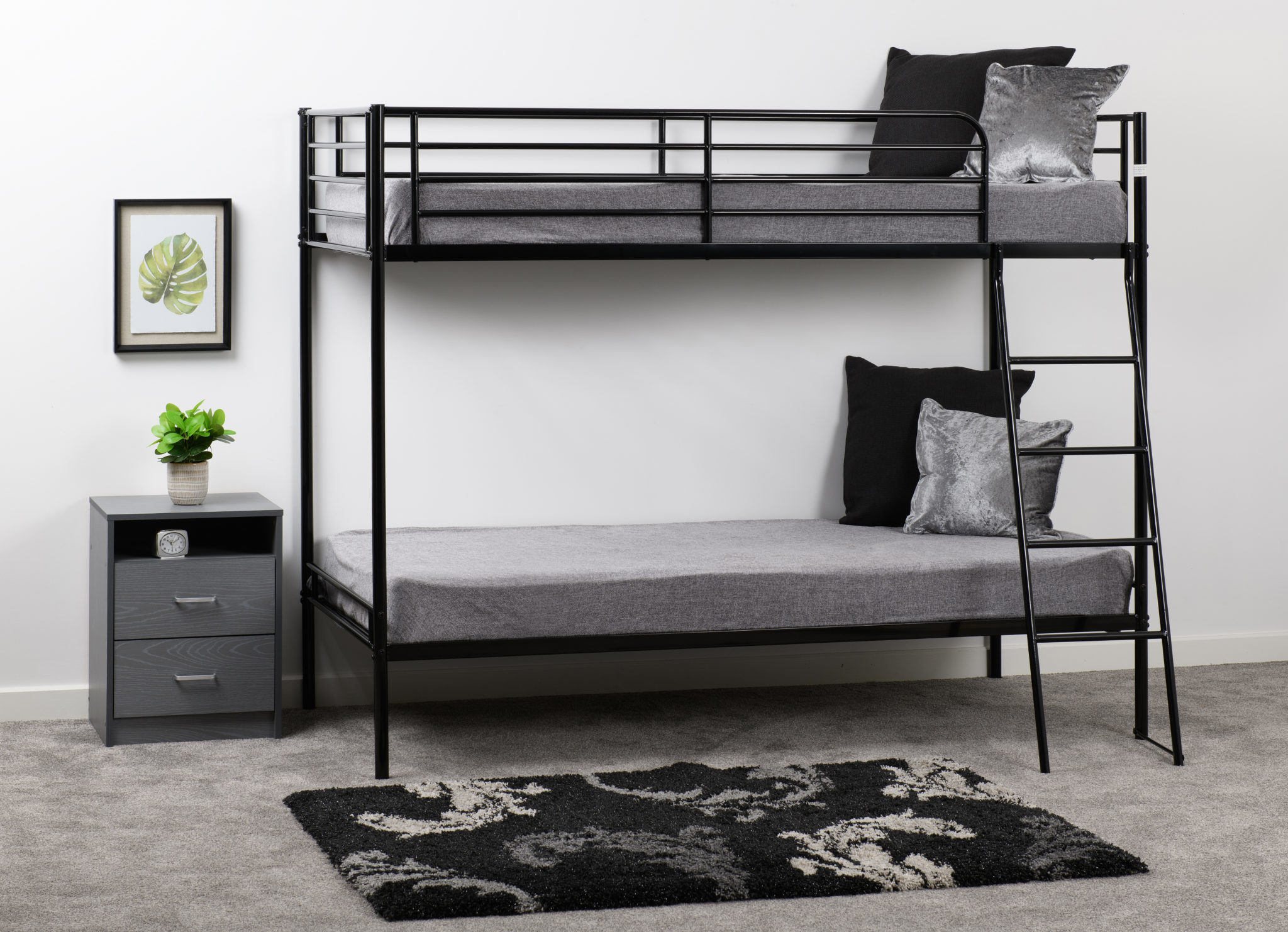 Seconique Brandon Black Bunk Bed