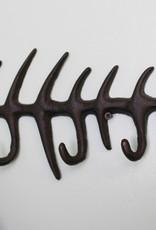 Rustic Cast Iron Fish Skeleton Hooks