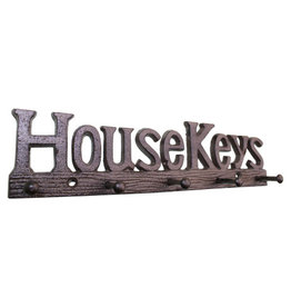 Rustic Cast Iron House Keys Hooks
