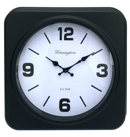 Square Black Wall Clock