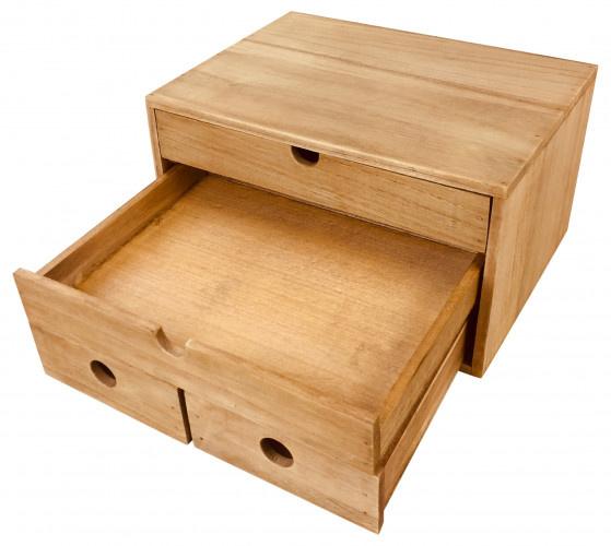 Rustic Solid Wood Desk Organizer