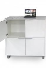 Accent 4 Door Storage Unit – White